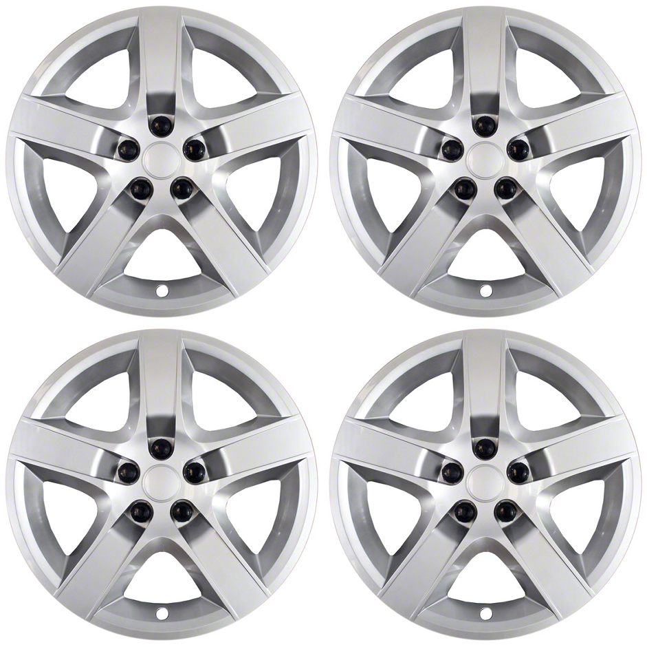 """Chevy Truck Accessories Superstore >> Brand New - Set of 4 - 17"""" Silver Hubcaps for 08 09 10 11 ..."""
