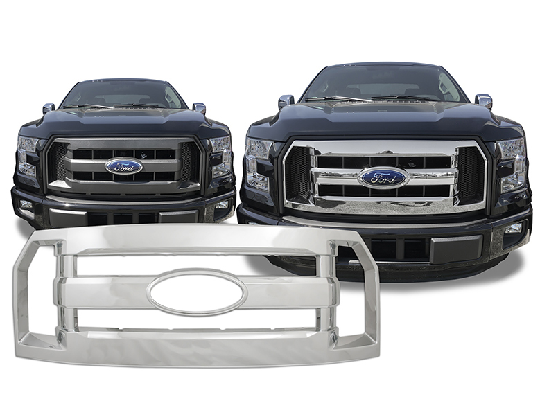 new chrome grill grille overlay insert for 2016 ford f150 xl