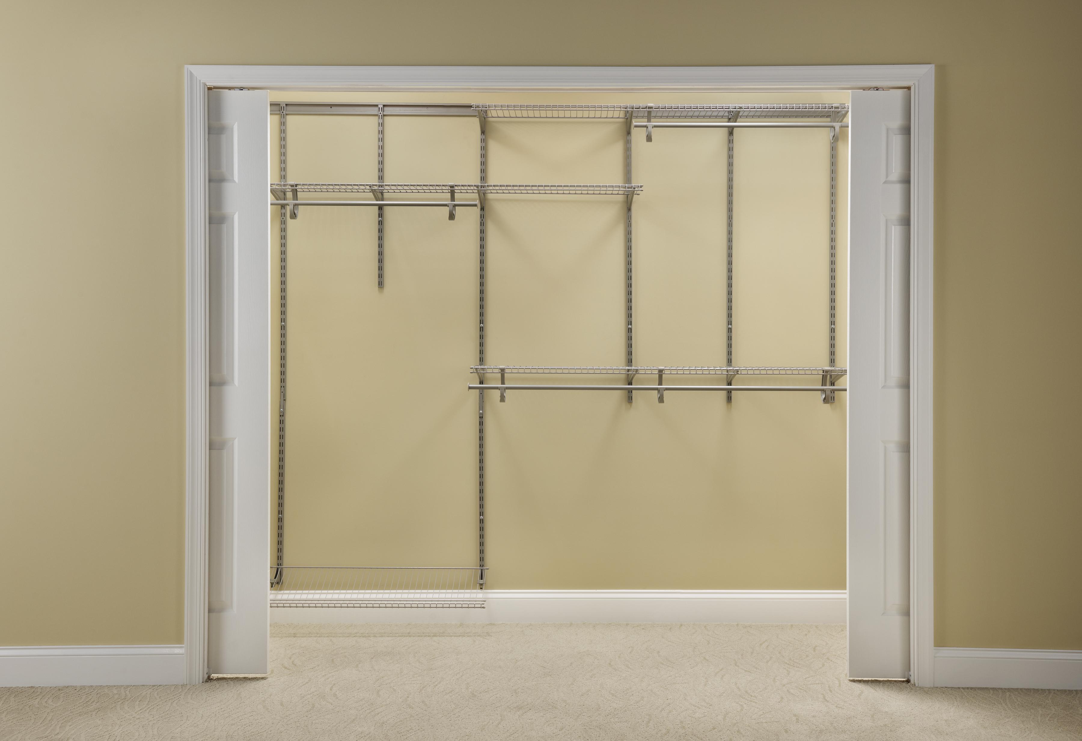 ClosetMaid ShelfTrack 6 Ft.   8 Ft. W Closet Organizer Kit