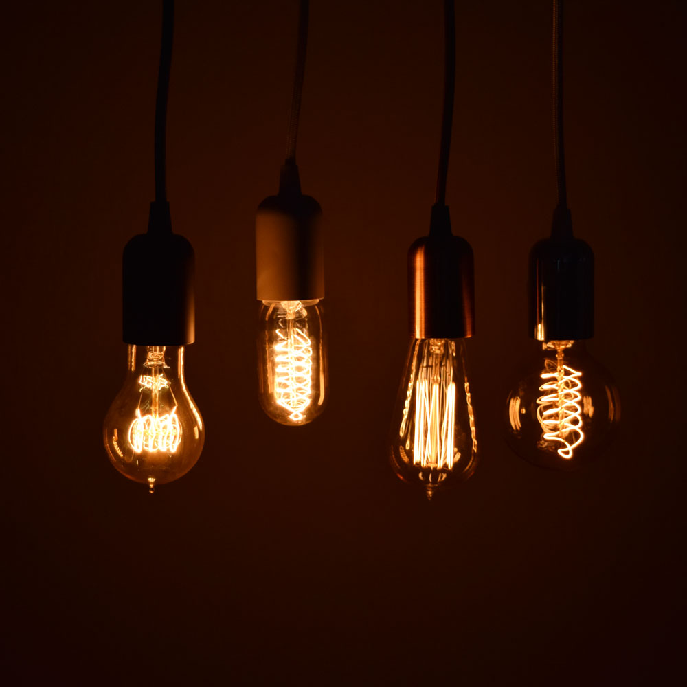 Modern Metal Copper Pendant Light Lamp Cord W/ Braided