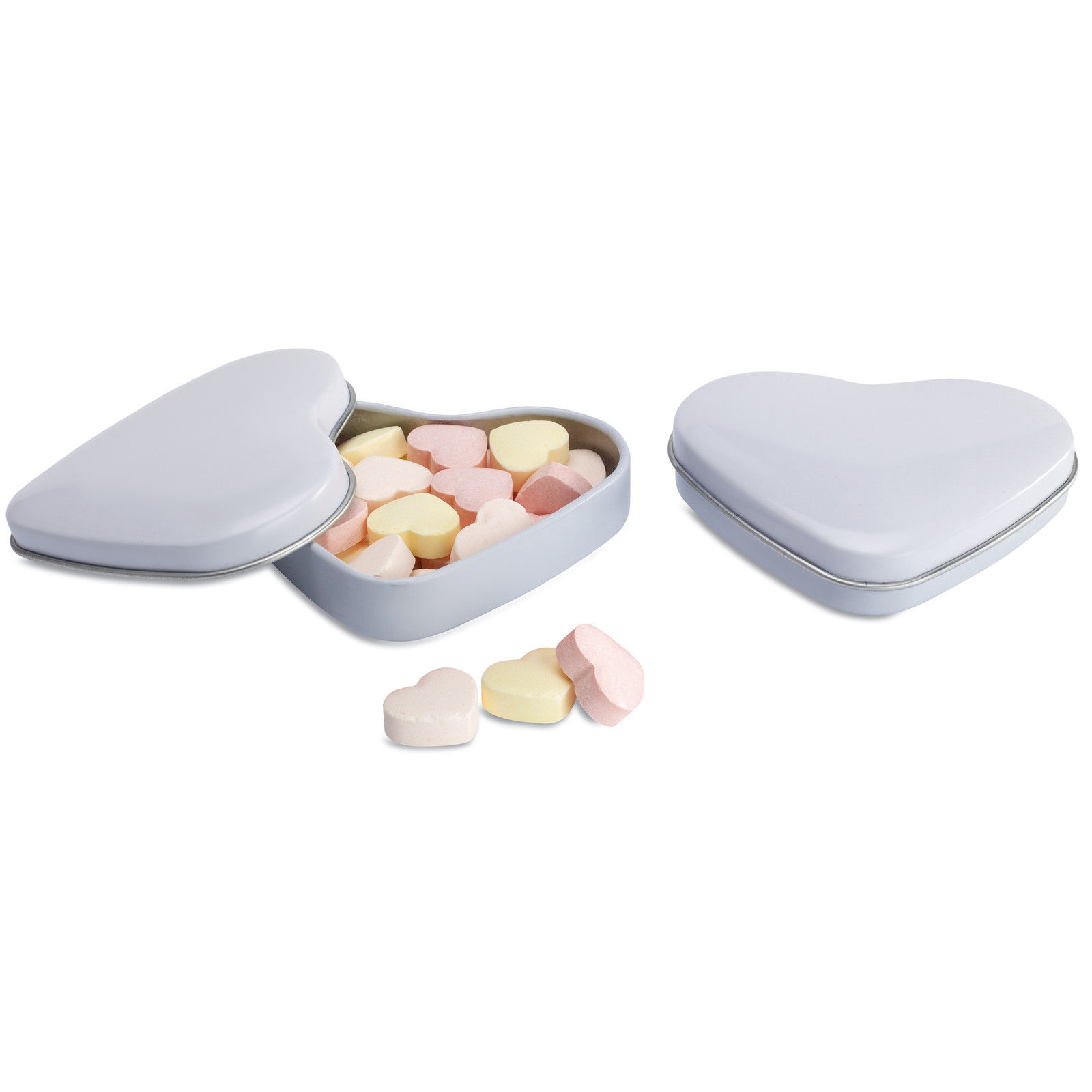 25 Pretty Heart Shaped Tins Containing Heart Shape Sweets Great ...