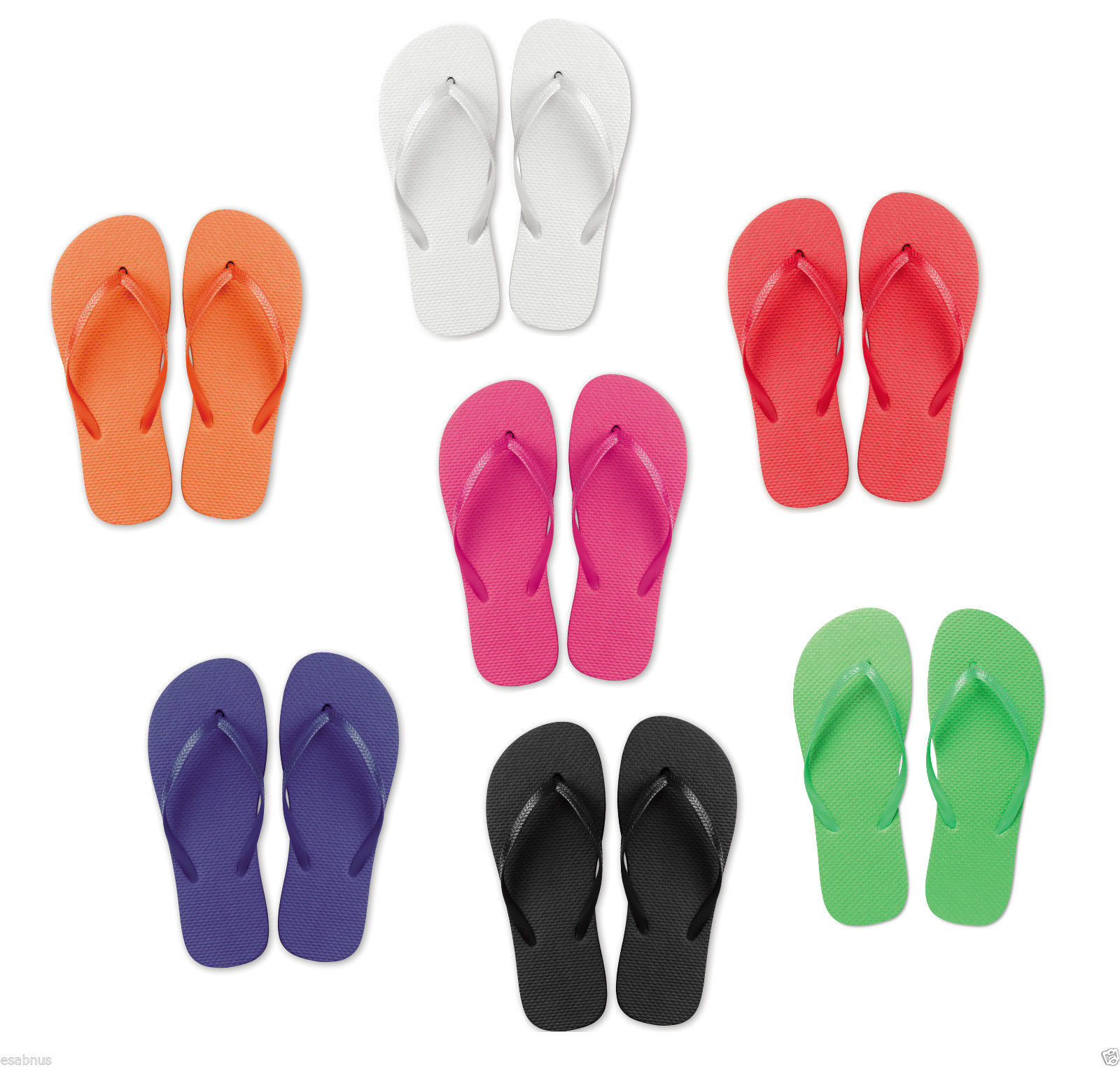 50pr Flip Flops Men Women Summer Beach Size
