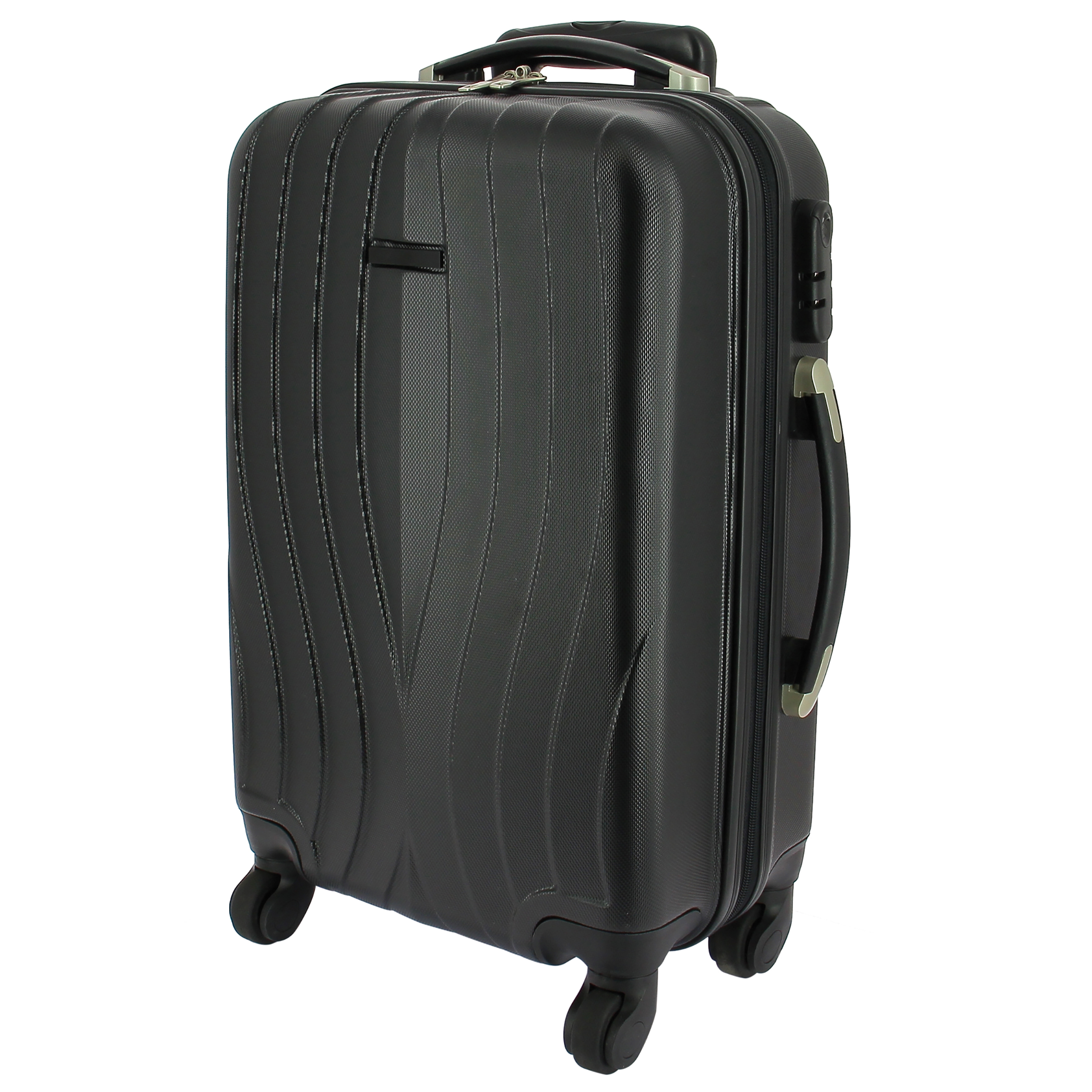 4 wheel hard shell carry on trolley abs plastic 34 x 50 x. Black Bedroom Furniture Sets. Home Design Ideas