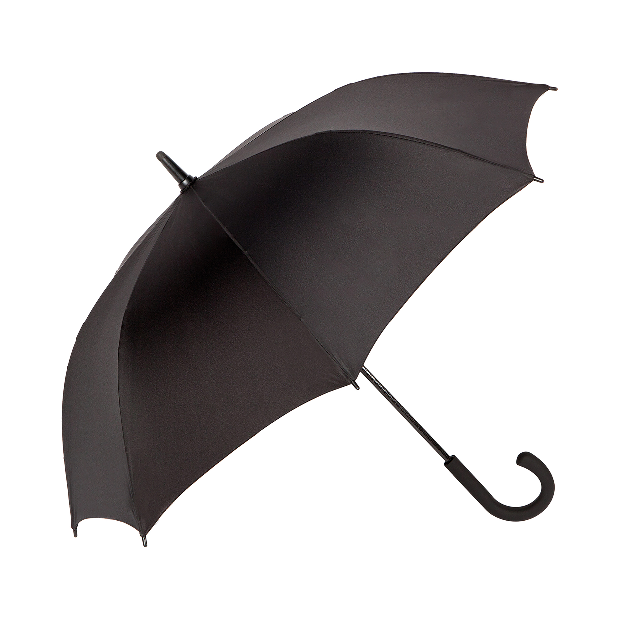 Carbon-Fibre-Shaft-Umbrella-black-fibreglass-ribs-golf-Storm-proof-102cm-40-034