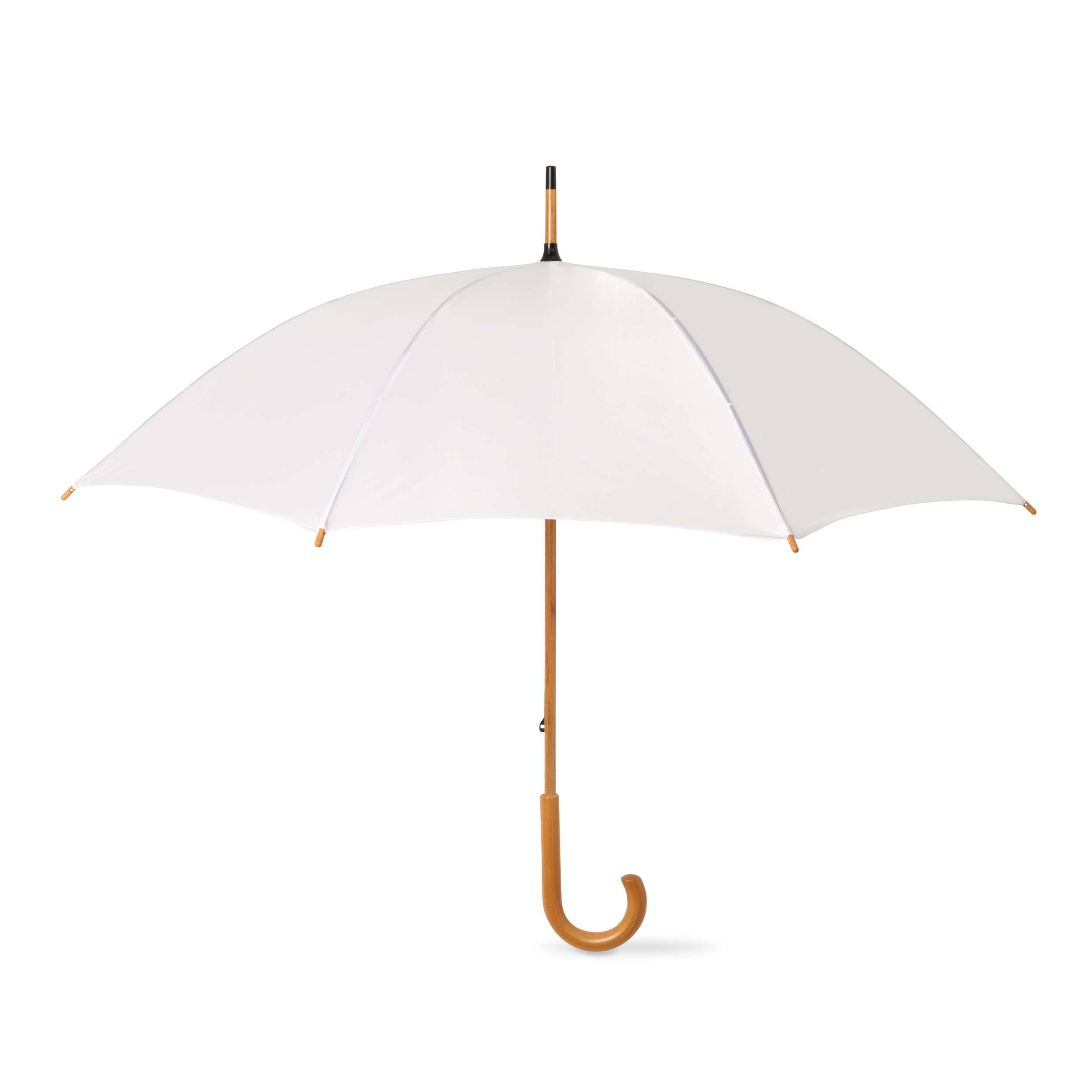 2-Stylish-Umbrellas-with-crooked-wooden-handle-Bride-Wedding-Groom-Walking