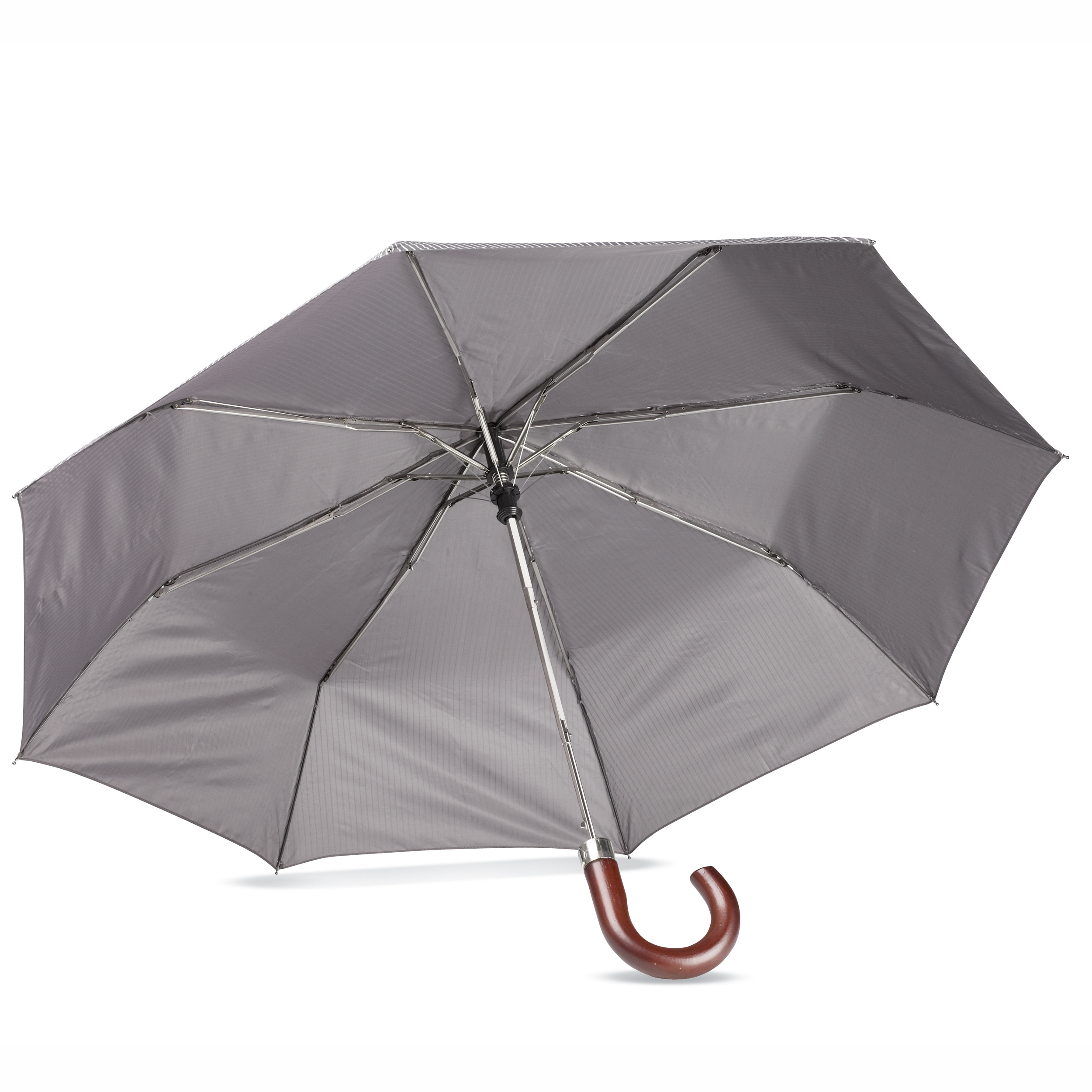 Business-umbrella-CROOKED-WOODEN-HANDLE-Auto-Opening-FIBERGLASS-RIBS-Steel-Frame