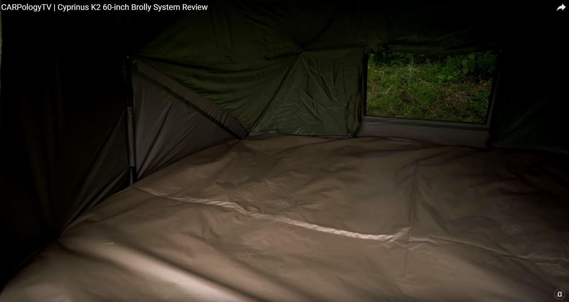 Cyprinus K2 60 Brolly System for Session Carp Fishing 20,000 HH EU Version