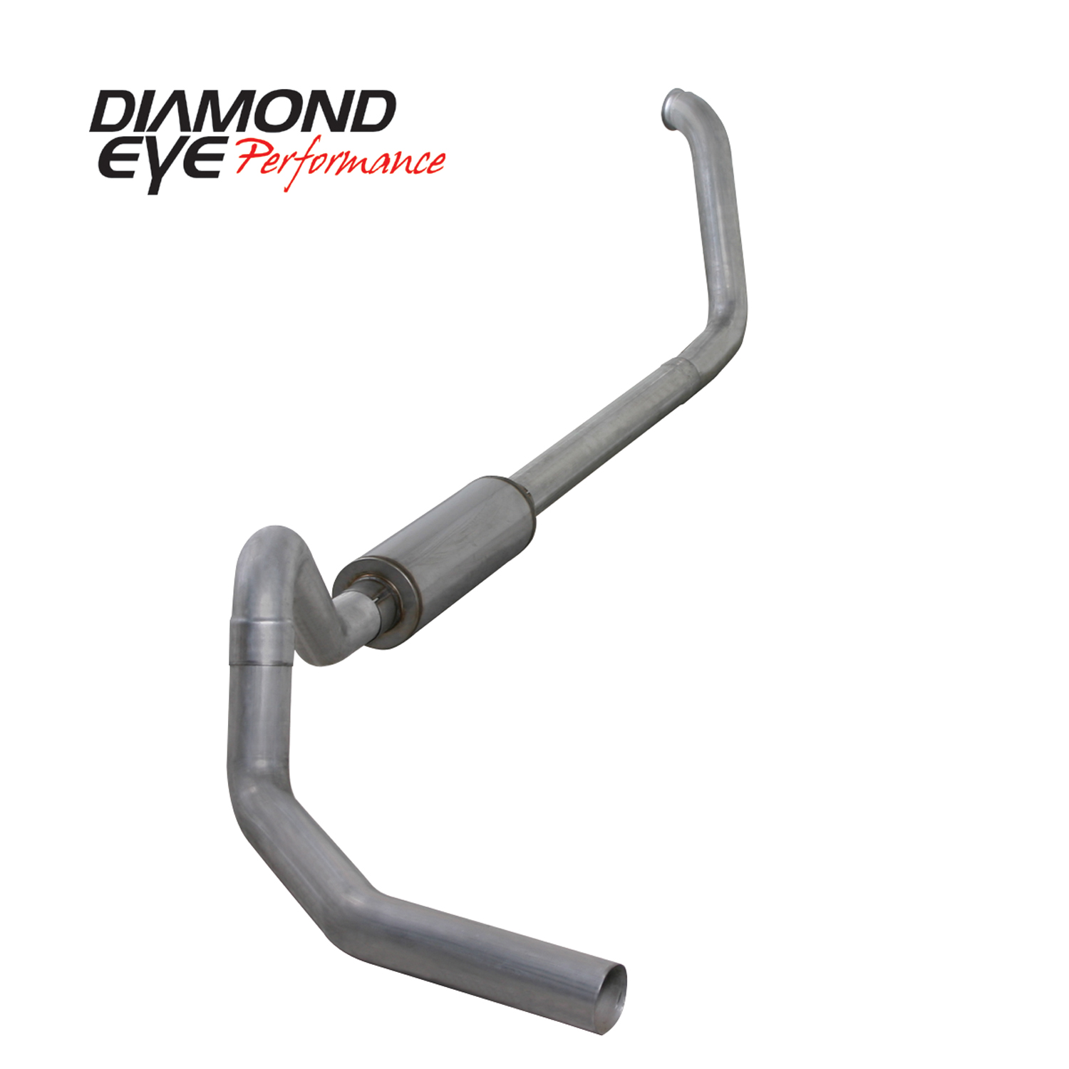 "Diamond Eye 4/"" Turbo Back Exhaust System For 99-03 Ford F-250 F-350 7.3L Diesel"