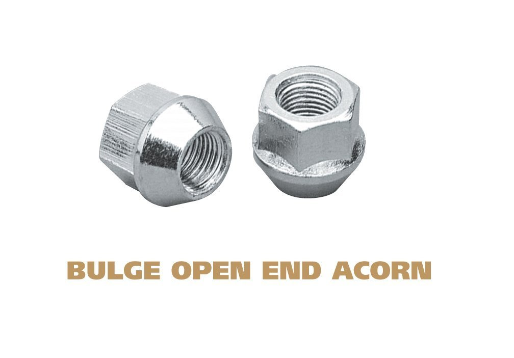 9//16 thread Size Gorilla Automotive 91198XL Xtra Long Acorn Bulge Lug Nuts