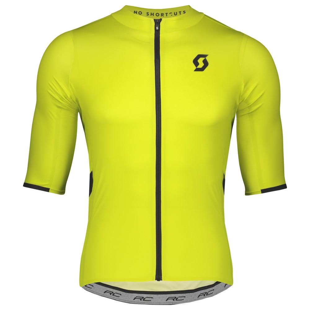 Scott RC Premium Short Sleeve Jersey Medium Sulphur Yellow Black ... 3f8307017