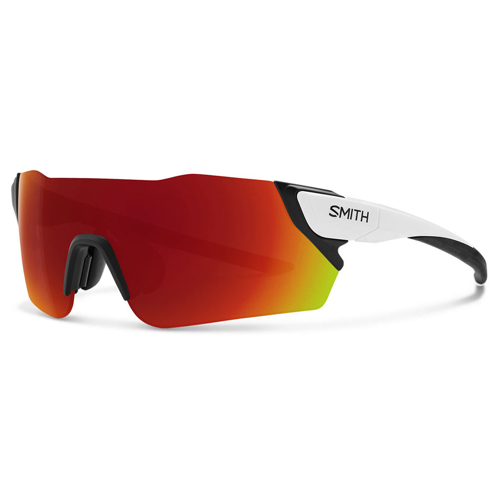 Smith Optics Attack ChromaPop Sunglasses Medium Fit Matte White Red ... 4b3bd349daf5