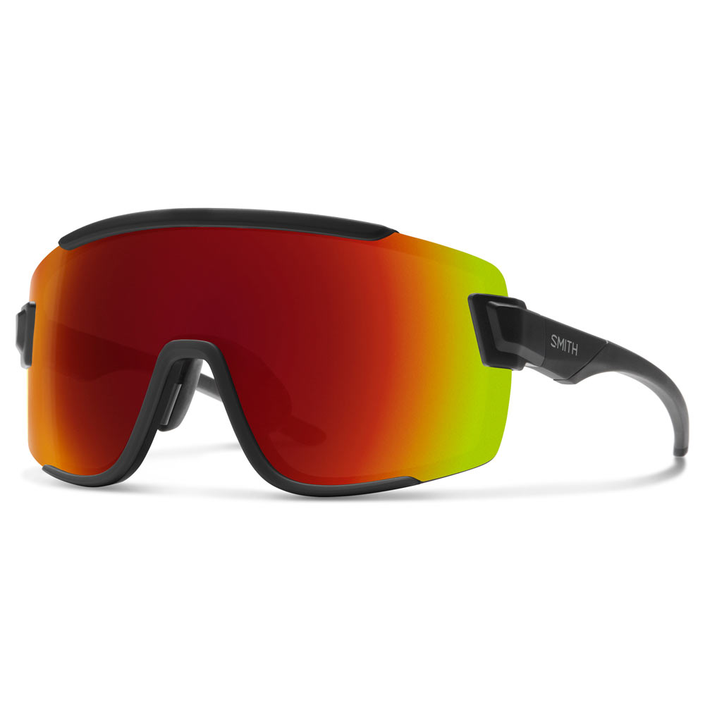 4f1bdcd4141b8 Smith Optics Wildcat ChromaPop Sunglasses Medium Fit Matte Black Red Mirror