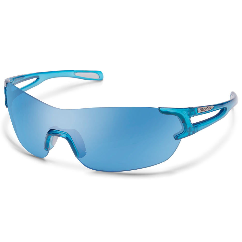 5379bf1675 Suncloud Airway Polarized Sunglasses Medium Fit Crystal Blue Blue Mirror