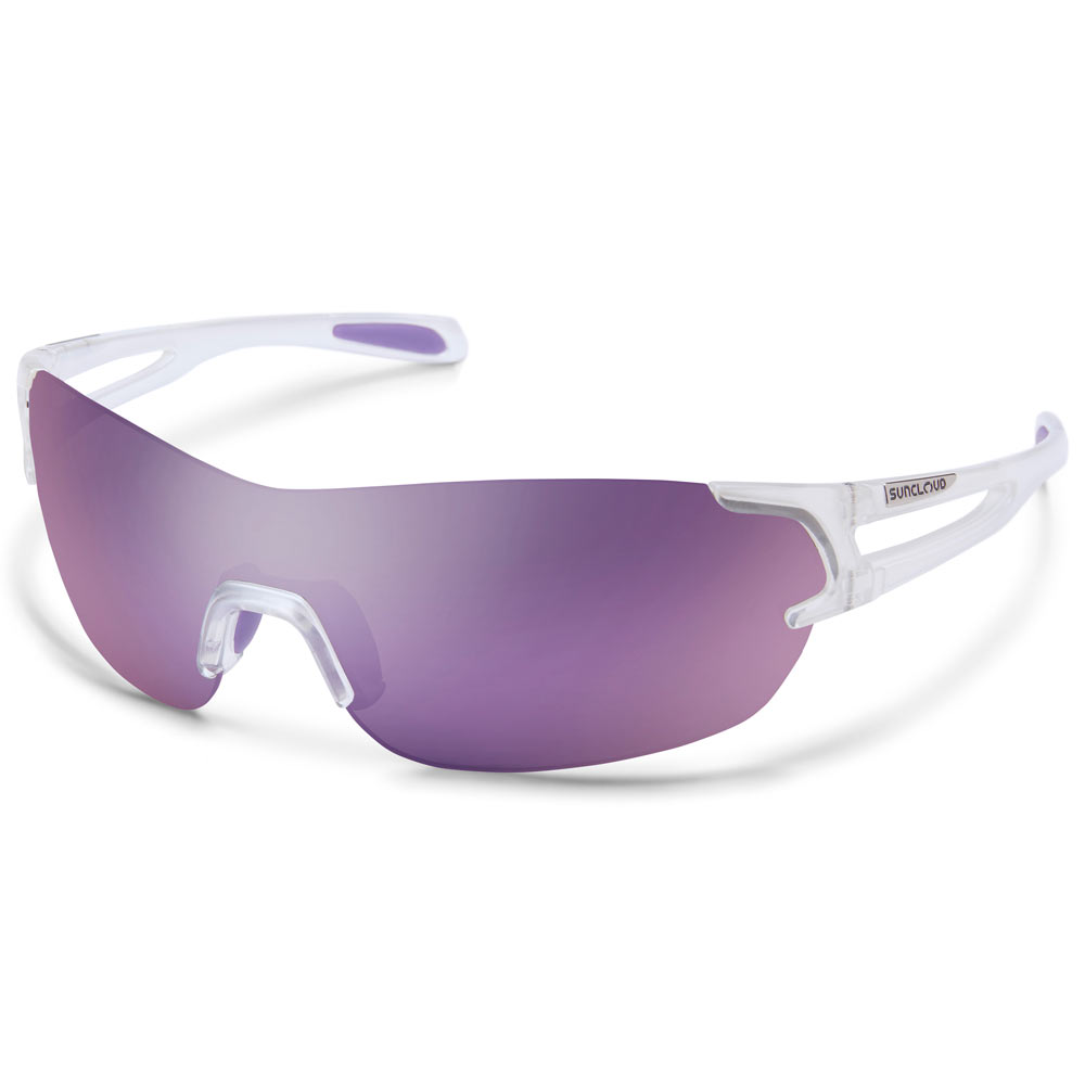 90335eda97 Suncloud Airway Polarized Sunglasses Medium Fit Crystal White Purple Mirror