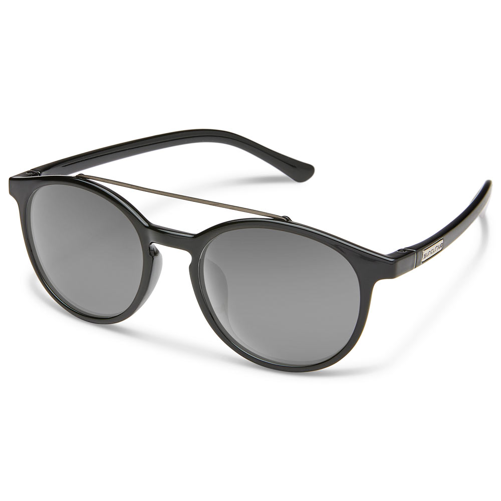 df68b24cae2 Suncloud Belmont Polarized Sunglasses Small-Medium Fit Black Gray ...