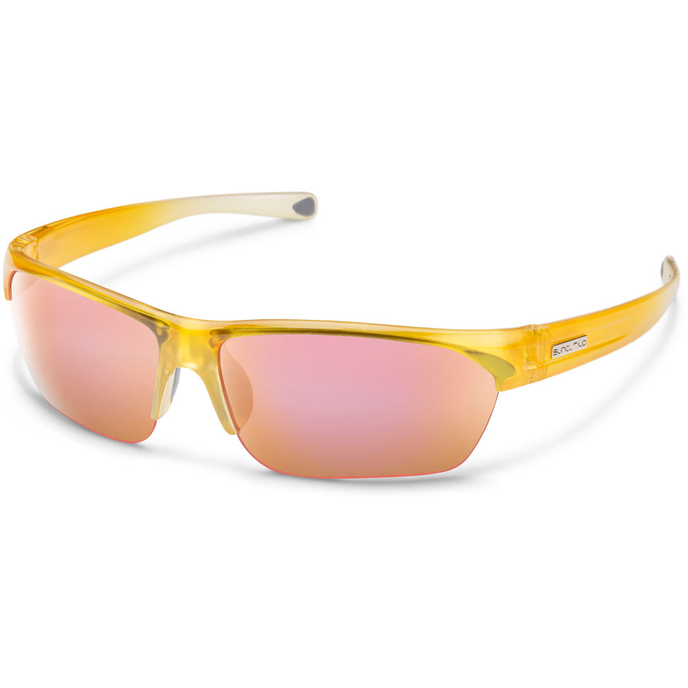 efbc3e979a6 Suncloud Detour Polarized Sunglasses Yellow Fade Pink Mirror Medium ...