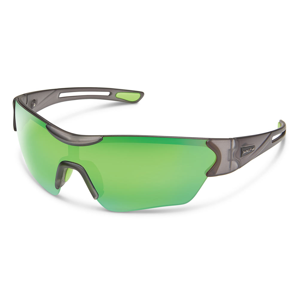 e95348ec82 Suncloud Hotline Polarized Sunglasses Medium Fit Matte Smoke Green Mirror