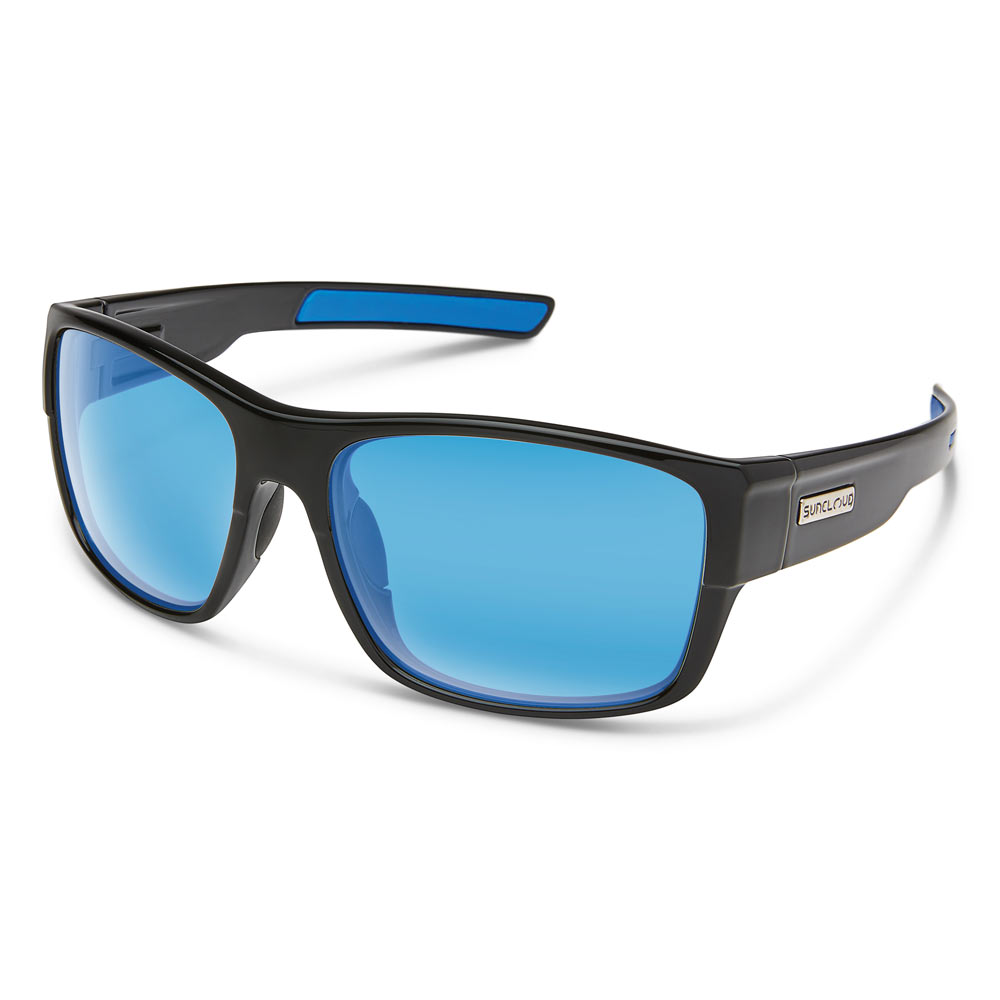 edc14eff89724 Suncloud Range Polarized Sunglasses Medium Fit Black Blue Mirror ...