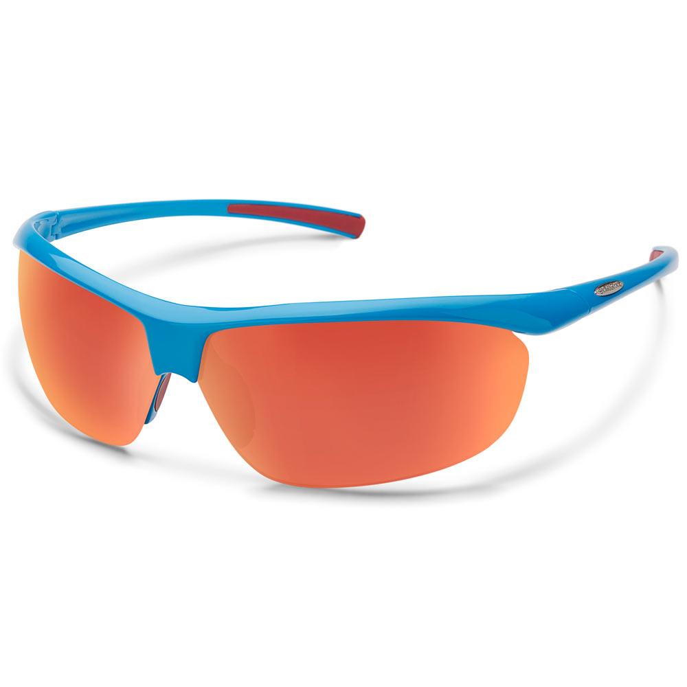 1e698de3f2 Suncloud Zephyr Polarized Sunglasses Blue Red Mirror Medium Large ...
