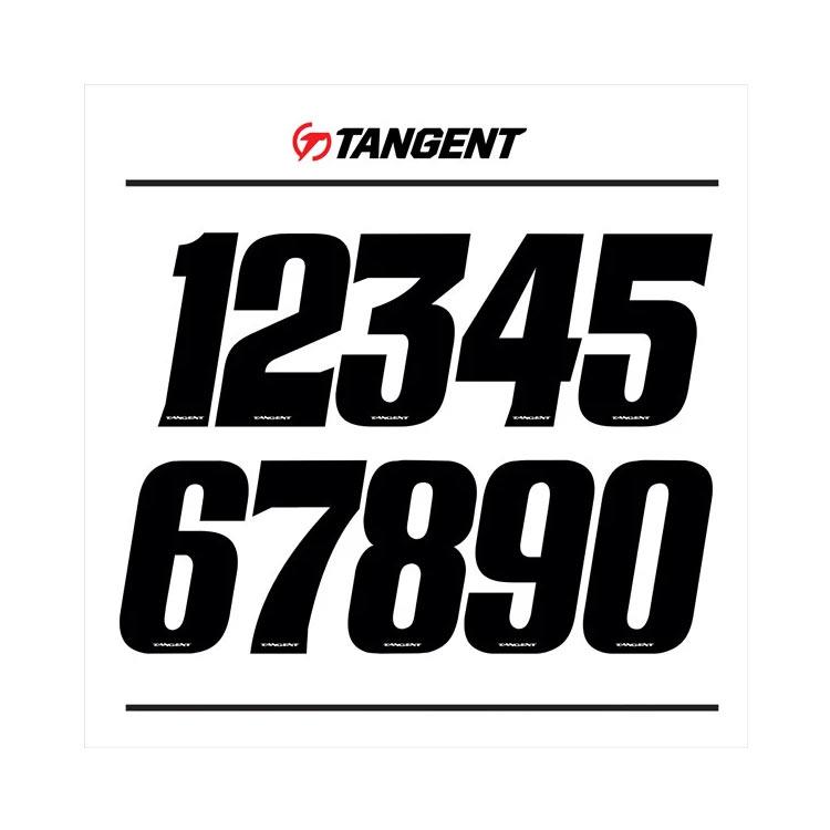 Tangent Mini Ventril 3D Number Plate Translucent Black//White