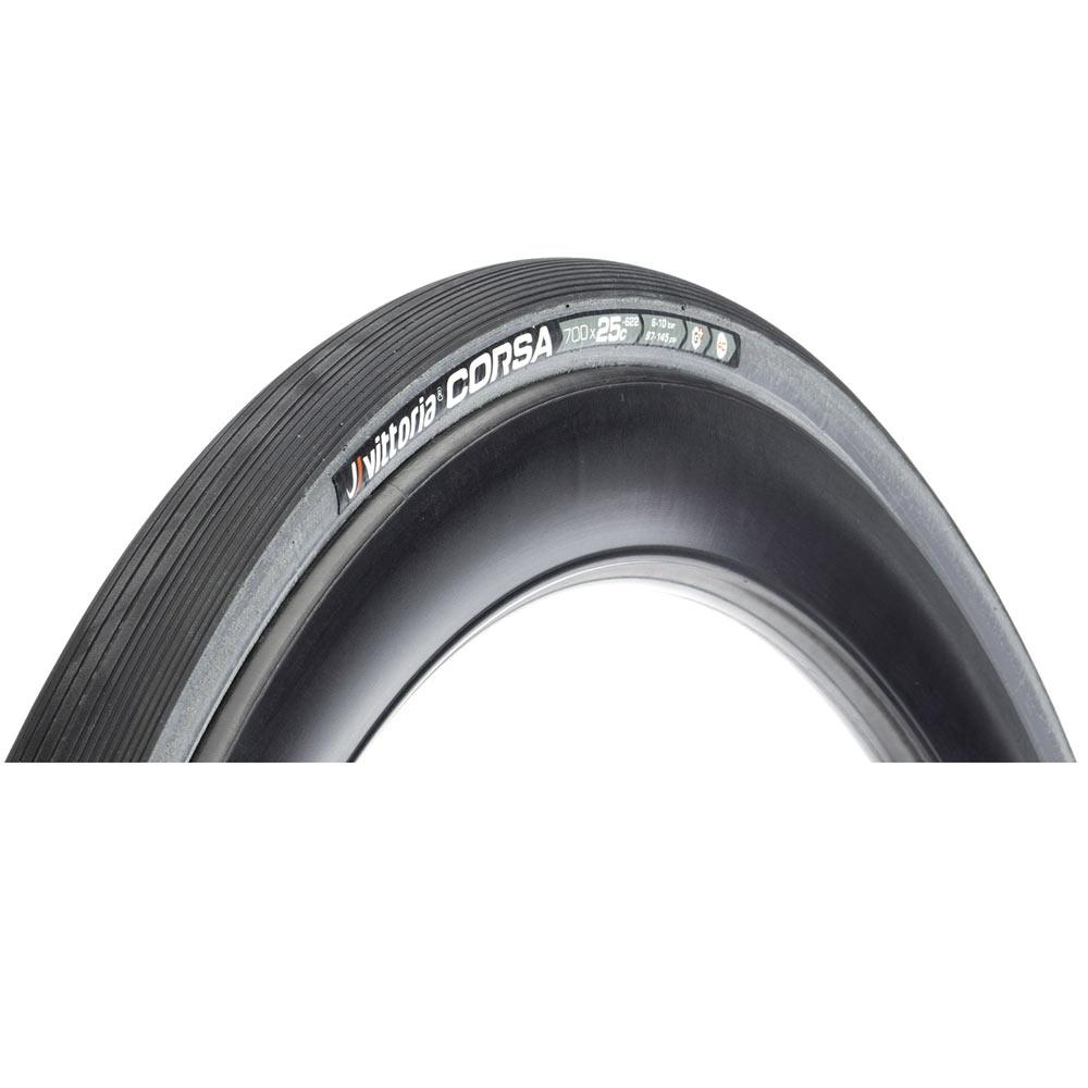Vittoria Corsa G+700x25C Clincher Black//Gray Sidewall x2 Road Tyre
