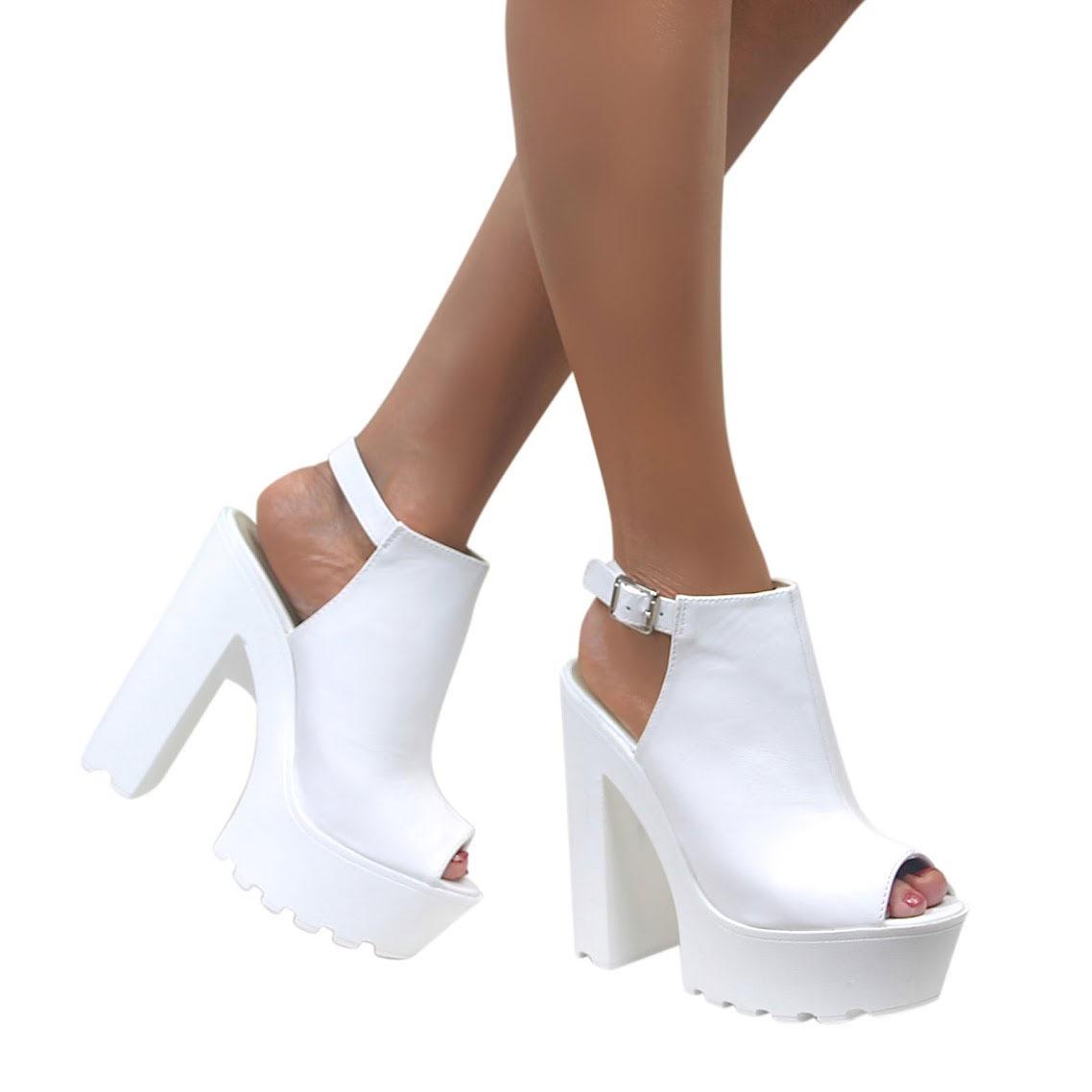 36105a834ad Chunky Cleated Sole Backless High Heels – Dahlia. Womens Chunky Heels - Qu  Heel