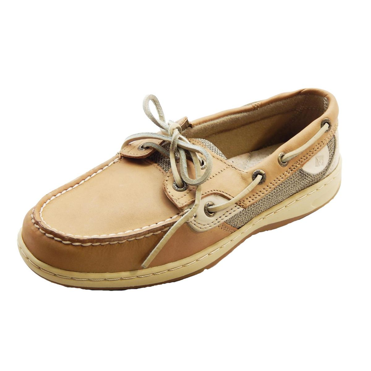 Details about Sperry Top-Sider Bluefish 2 Eye Womens Linen Oat Boat Shoes 9f9aa1fed81