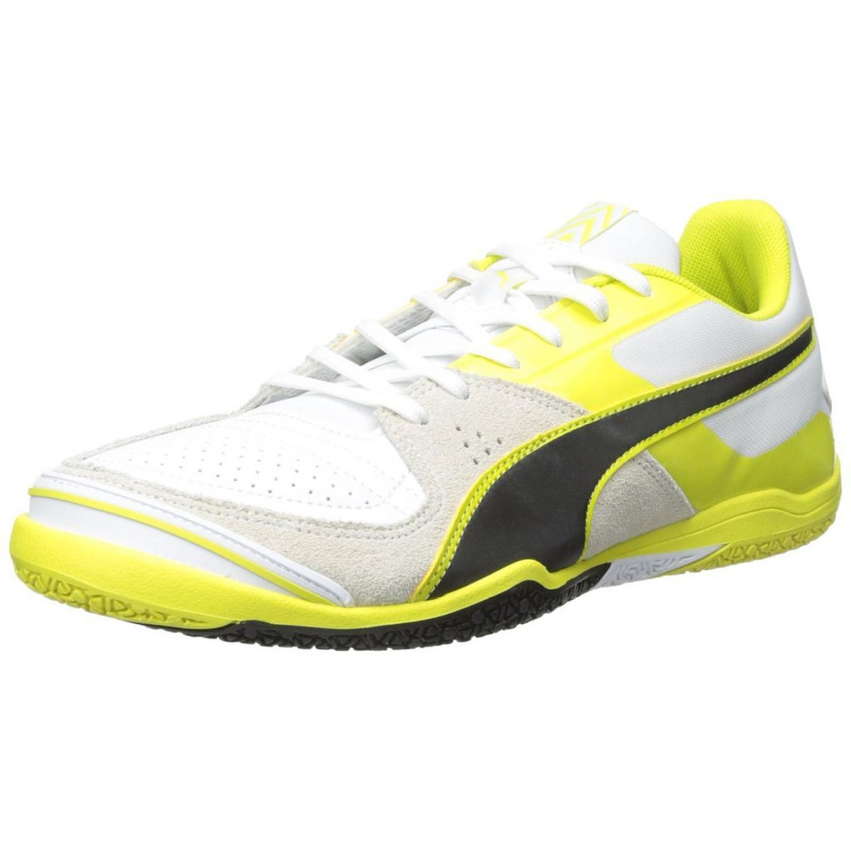2fb16e66ff5 PUMA Men s Invicto Sala White Black Sulphur Soccer Shoe 11.5 M