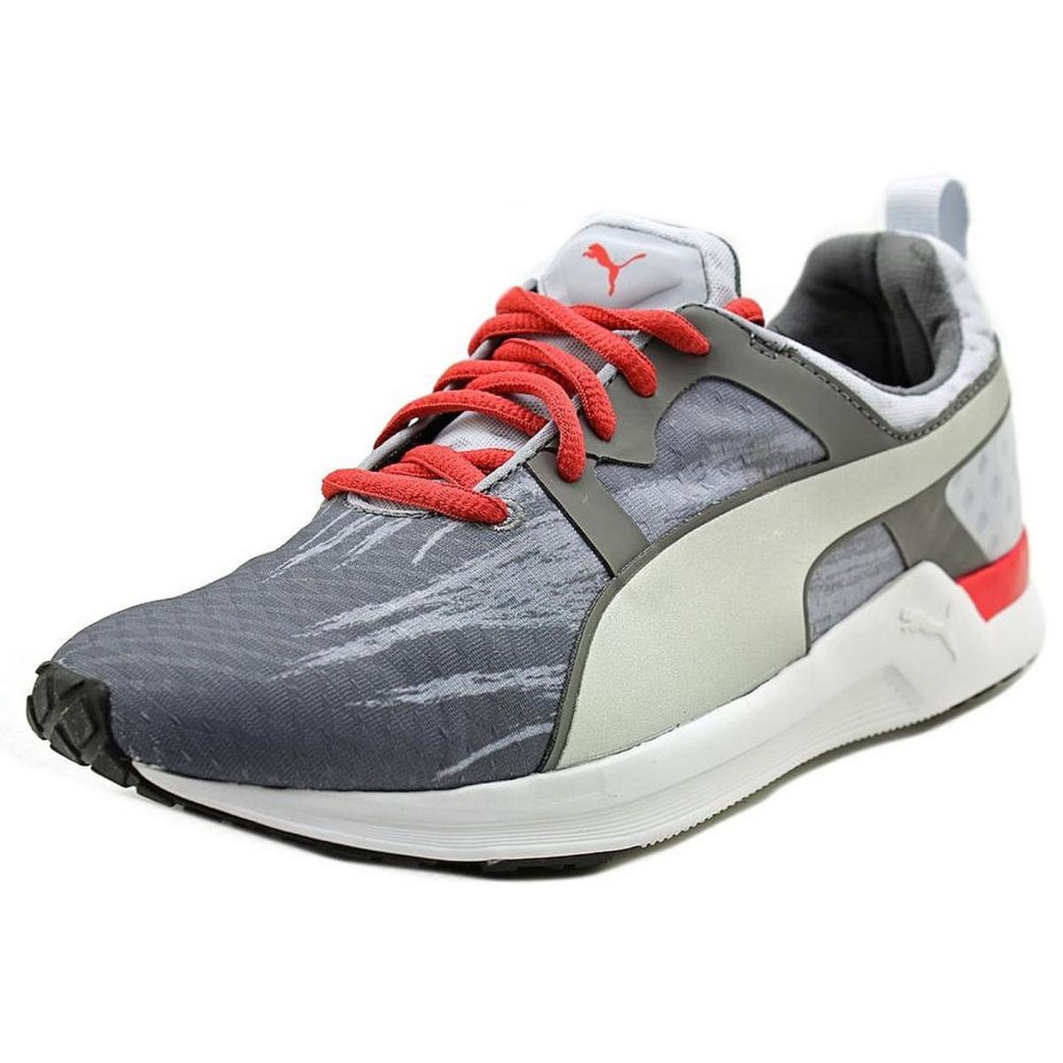PUMA Women/'s Pulse XT Fade Running Shoe Gray//Geranium Size 9M