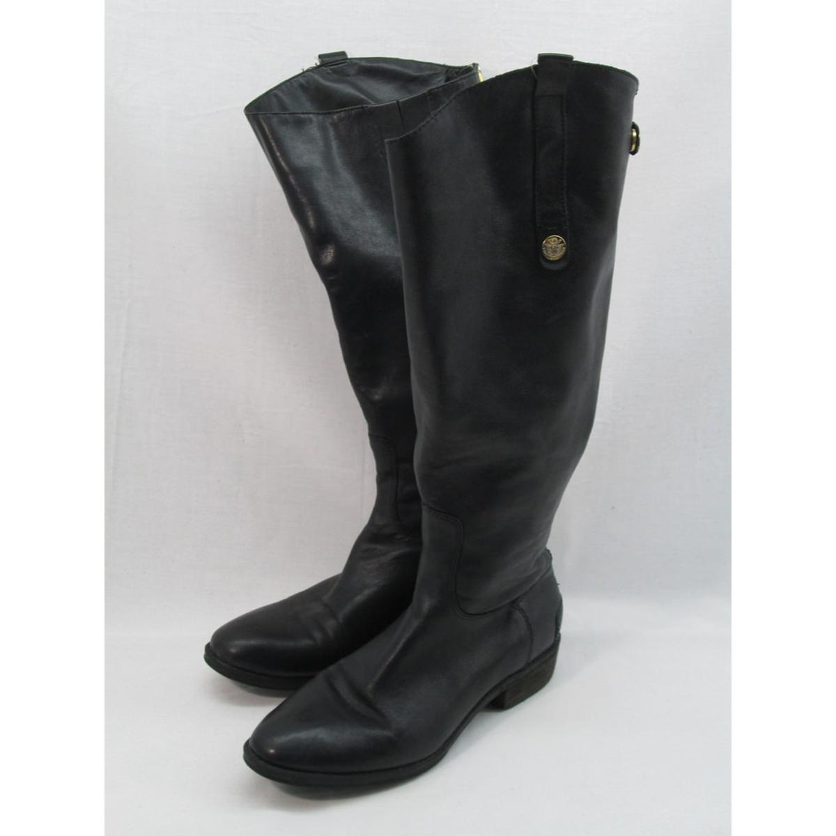 9ceca6c9c Details about Sam Edelman Penny Black Riding Women s Boot 7.5M