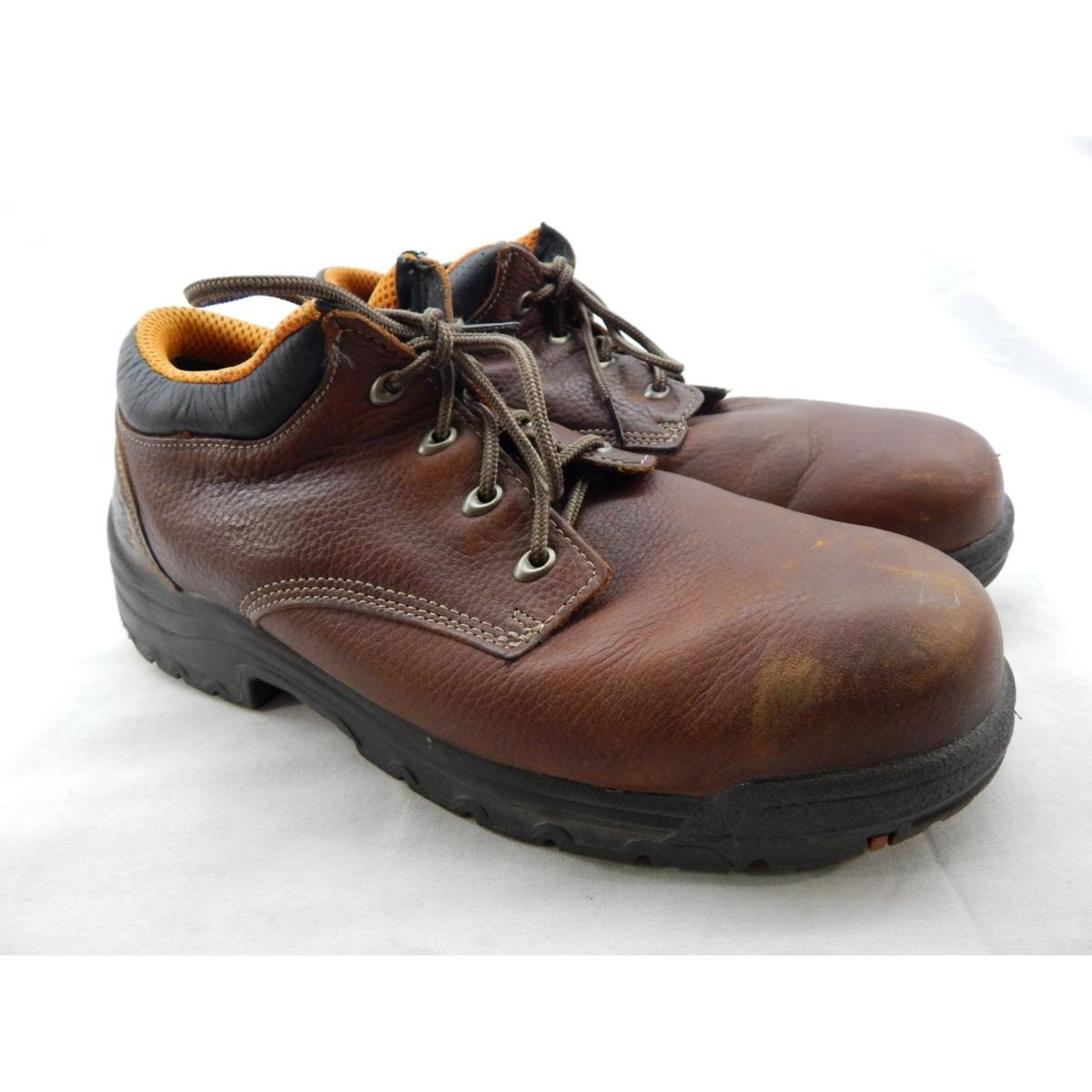 Details about Timberland Pro Titan Men's Brown Steel Toe Work Shoes 13M