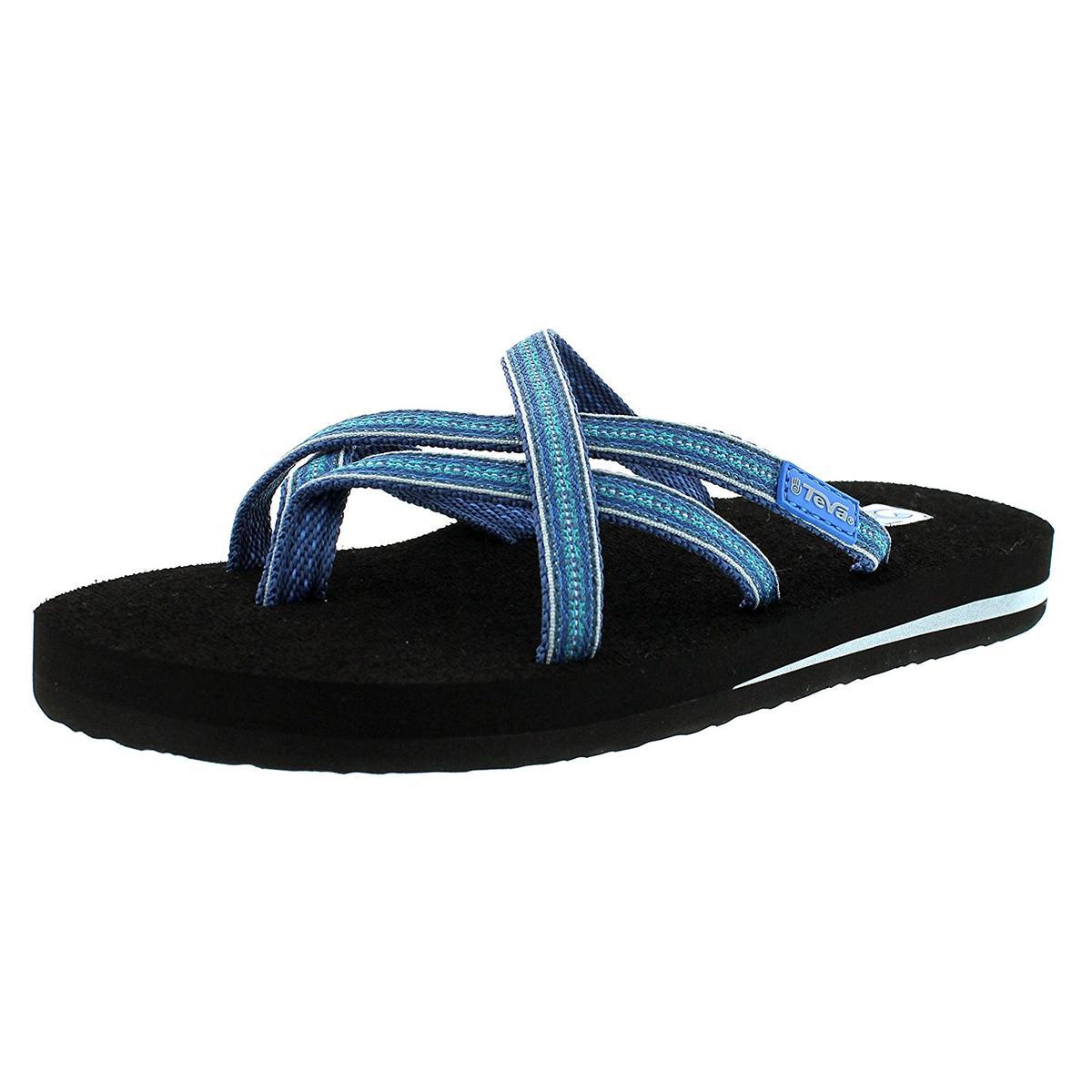 3c4f3b59a Teva Women s Olowahu Pintado Blue Sandal 9M