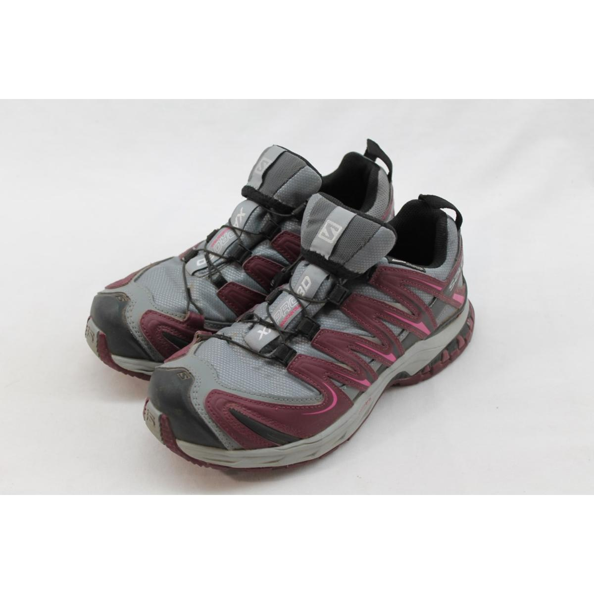 7cd5fca4265d Details about Salomon XA Pro Women s Pearl Grey Bordeaux Hot Pink Running  Shoe 6M