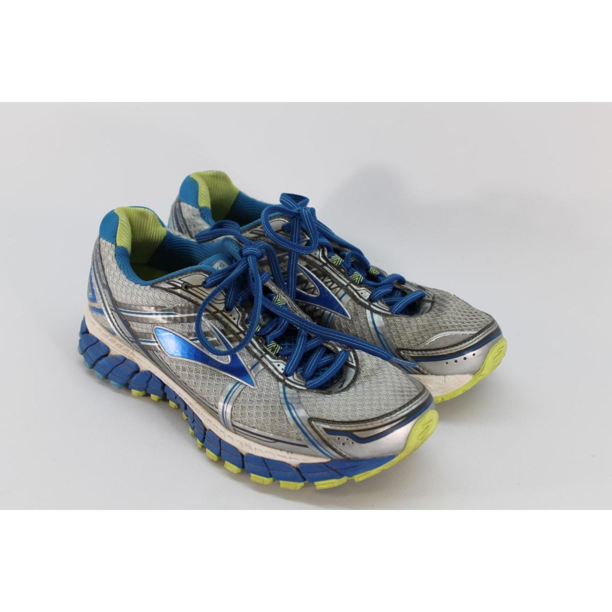 cc84435ce42d2 Details about Brooks Women s Adrenaline GTS 15 White Blue Running Shoe 9M