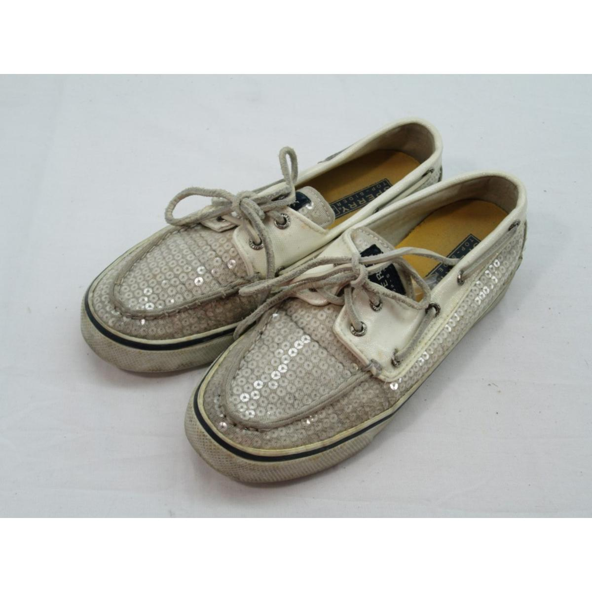Details about Sperry Top Sider Women s Bahama 2 Eye White Sequin Boat Shoe  6M 86979c3537