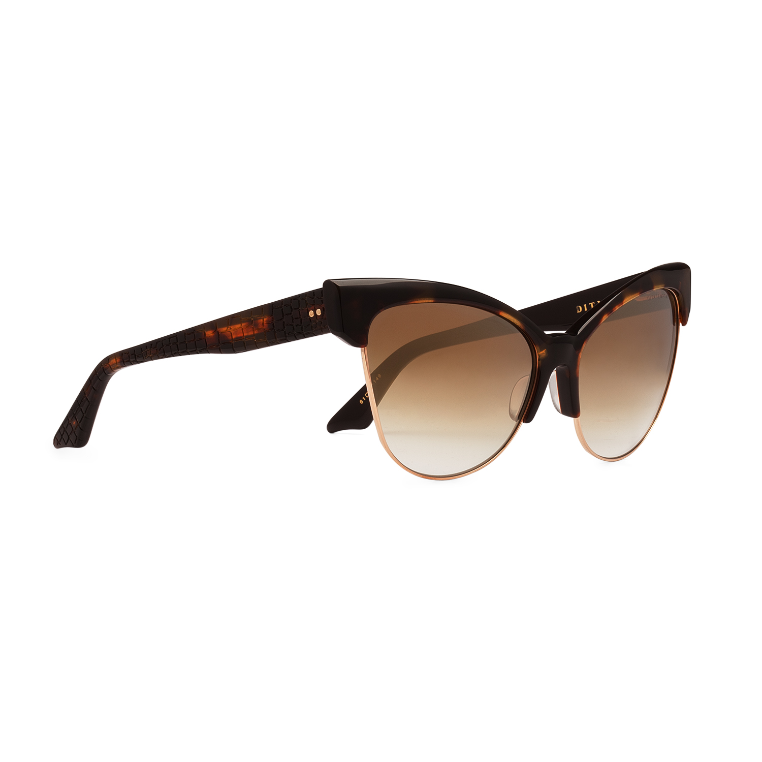 b85dc8b4d97 NEW Dita Temptation Sunglasses 22029B Tortoise Burnt Brown 12K Gold ...