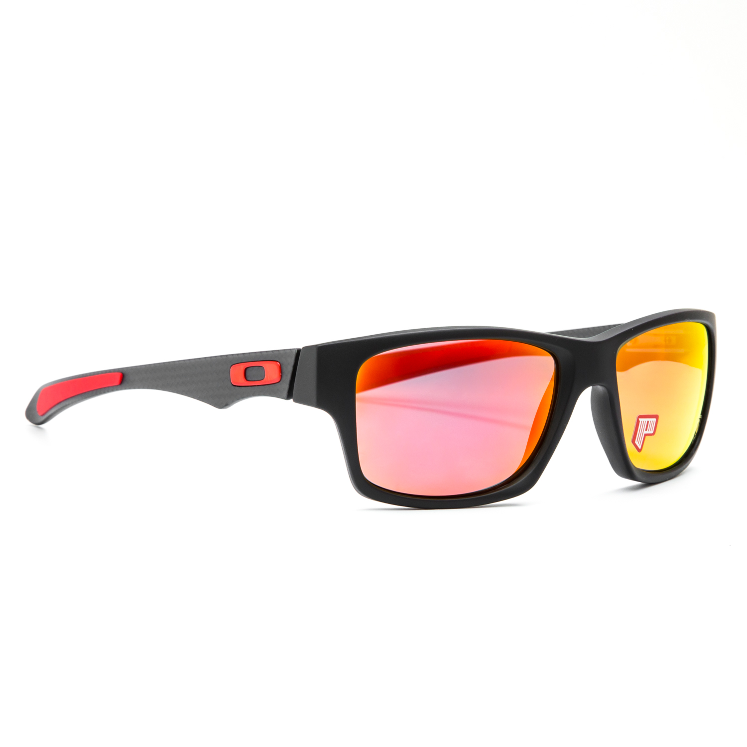4fbe0cafac9 Oakley Ferrari Jupiter Carbon Sunglasses OO9220-06 Carbon   Ruby ...
