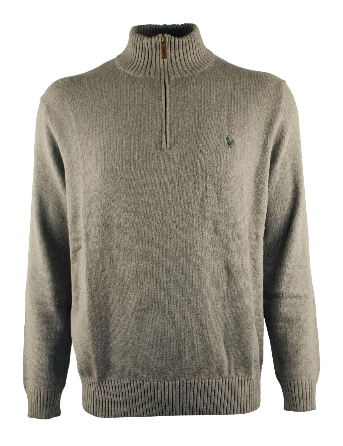 6xb 6xl Big 6x Polo Ralph Lauren Men Half Zip Sweater Grey Cotton ...