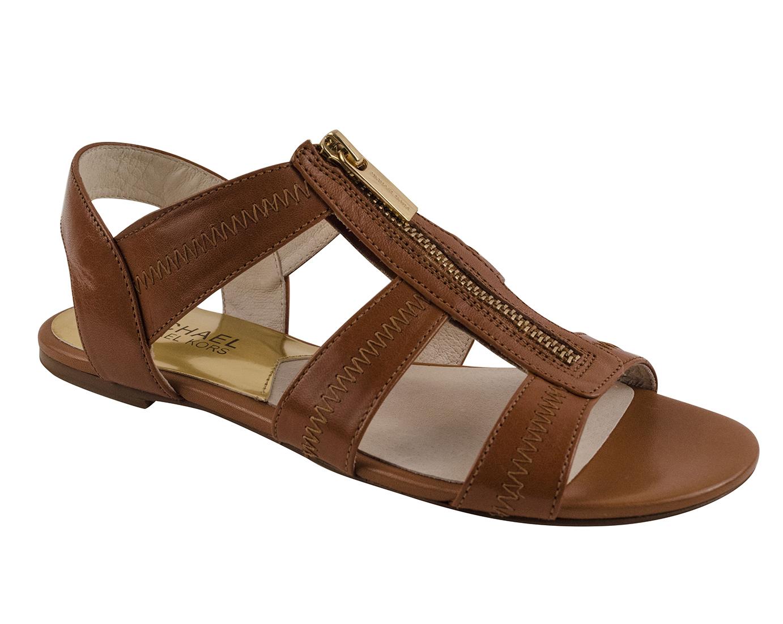 Michael Kors Women S Berkley T Strap Flat Leather Sandals