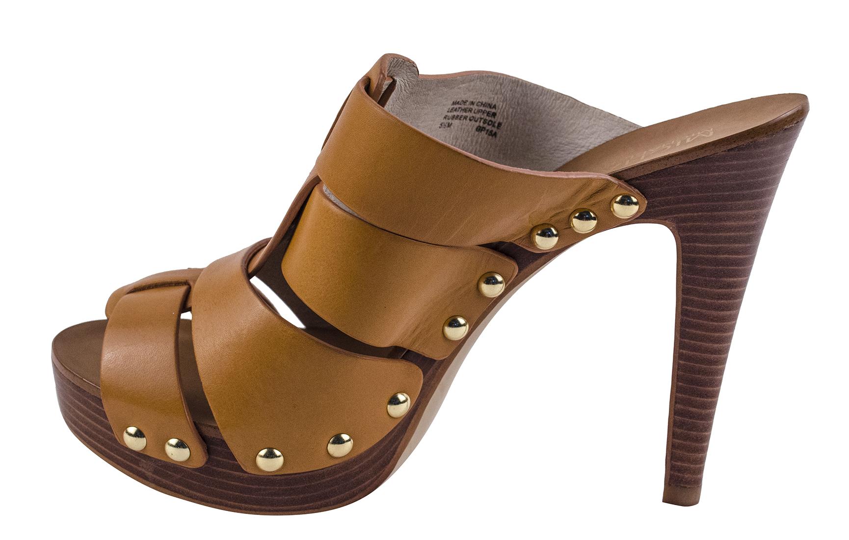 Michael Kors Women's Somerly High Heel Mule Sandals Shoes ...