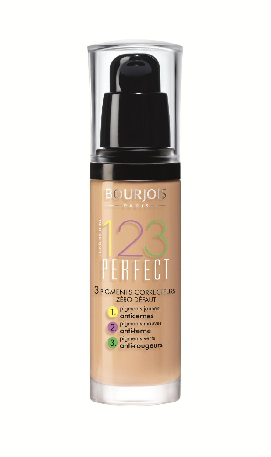 bourjois 123 perfect foundation various shades 30ml new sealed ebay. Black Bedroom Furniture Sets. Home Design Ideas