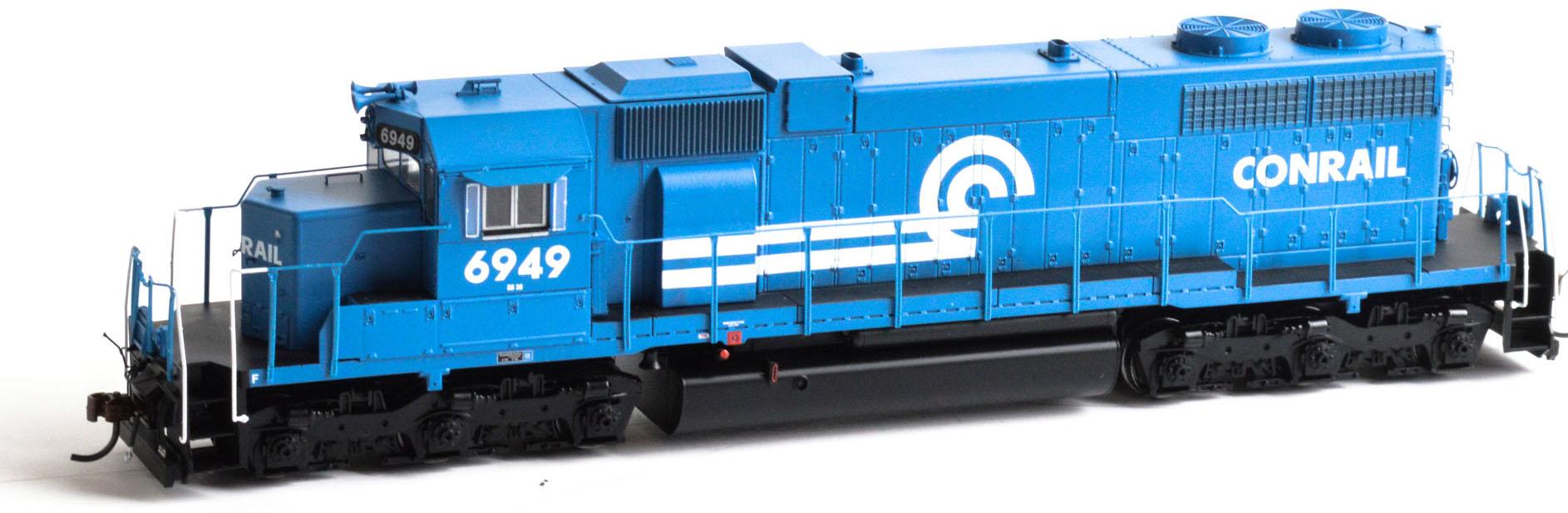 Athearn HO Scale EMD SD38 Diesel Locomotive Conrail/CR  blu   6949