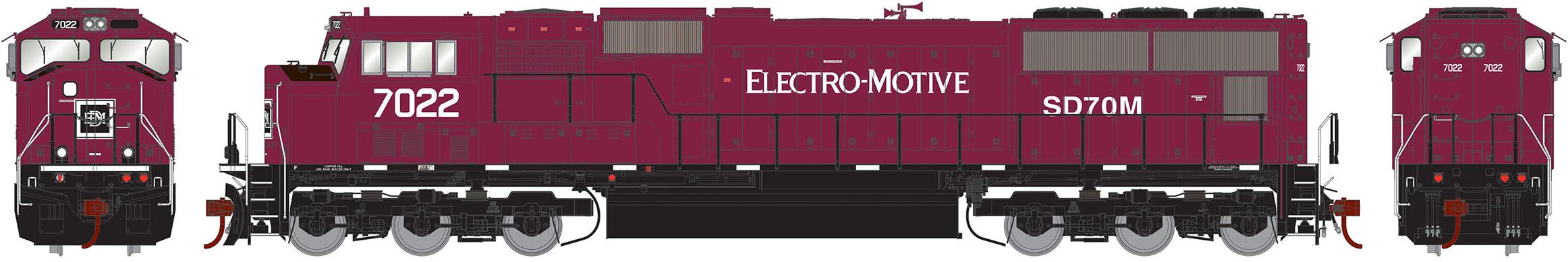 Athearn Genesis HO Scale EMD SD70M Diesel Locomotive EMD EMD EMD Lease  7022 0594f0