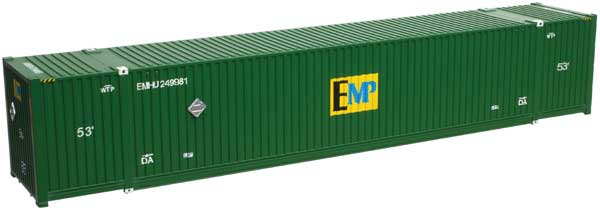 Details about Atlas HO Scale CIMC 53' Intermodal Shipping Container EMP  (Green) 3-Pack #5