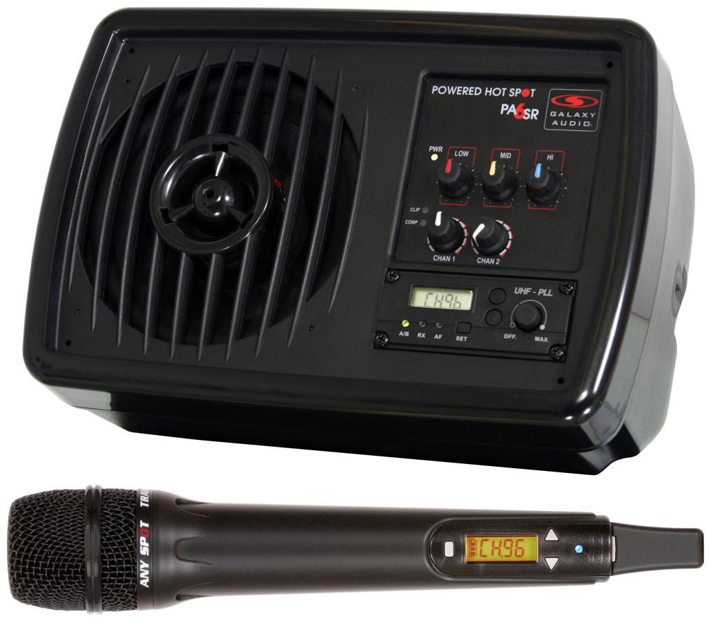 Galaxy Audio Hot Spot Speaker PA System Powerot Monitor w Wireless Microphone