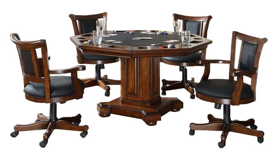 Imperial 2-in-1 Game (Poker/Dining) Table and 4 Chairs Set ...