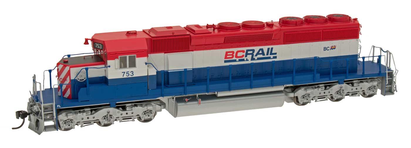 Intermountain Escala Ho-EMD SD40-2 (DCC) BC Riel (rojo, blancoo y azul)