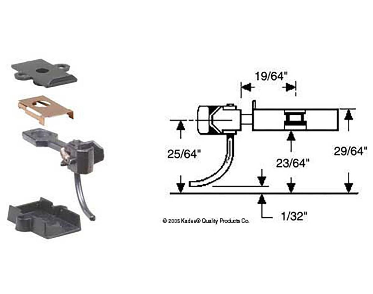 Kadee No.5 Standard Magne-Matic Coupler Medium 9//32/'/' Centerset Shank 2 pr