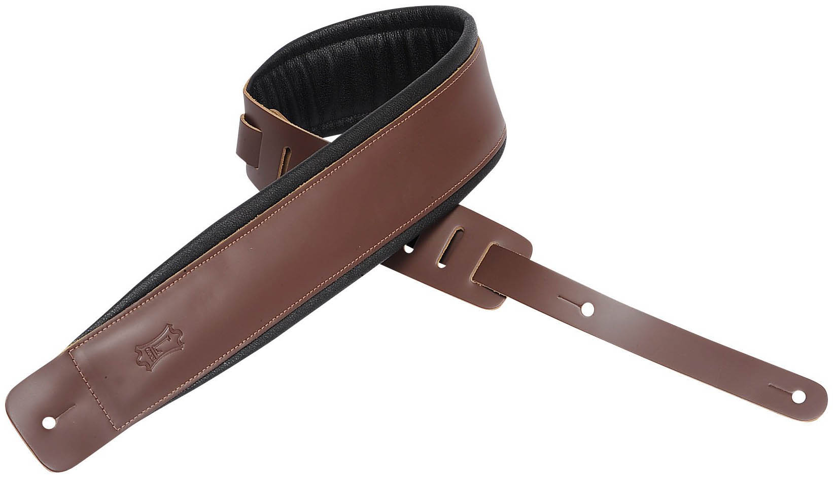 """Levy/'s DM1PD-BLK 3/"""" Classic Padded Garment Leather Guitar//Bass Strap Black"""
