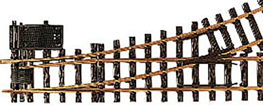 LGB G Scale Track System R3 22.5-Degree Electric Turnout Diameter Right Hand